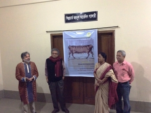 The opening ceremony of the group art exhibition Let The Good Times Roll, with Alam Khorshed, Founder, director of Bistaar: Chittagong Arts Complex, chief guest prof. Abul Monsur, artist Anita Bhattacharya of Kolkata, India and Wahid Malek, Managing Editor, Dainik Azadi, Chittagong.